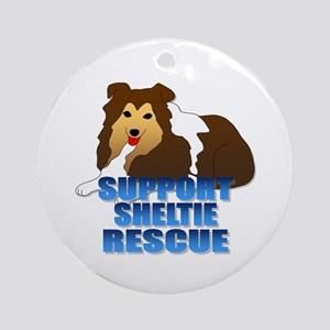 Support Sheltie Rescue Ornament (Round)