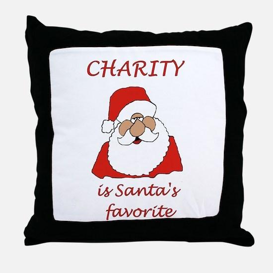 Charity Christmas Throw Pillow
