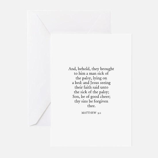 MATTHEW  9:2 Greeting Cards (Pk of 10)
