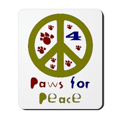 Paws for Peace Olive Mousepad