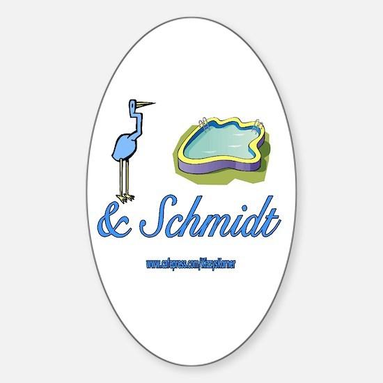 CRANEPOOLESCHMIDT1 Oval Bumper Stickers