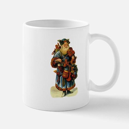 Vintage Santa with violin Mug