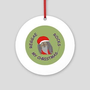 Reggae Rocks My Christmas /Ornament (Round)