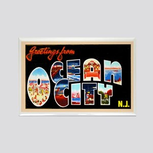 Ocean City New Jersey Rectangle Magnet