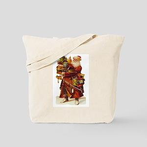 Vintage Santa with Gifts Tote Bag