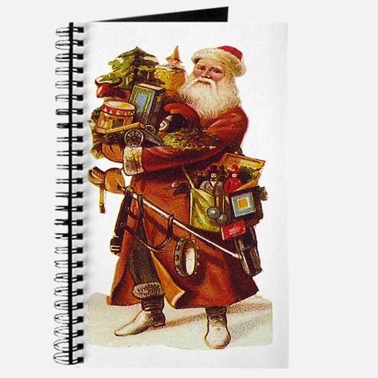 Vintage Santa with Gifts Journal