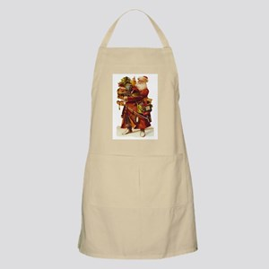 Vintage Santa with Gifts BBQ Apron