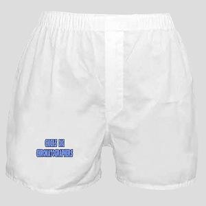 """Chicks Dig Chromatographers"" Boxer Shorts"