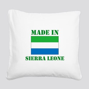 Made in Sierra Leone Square Canvas Pillow