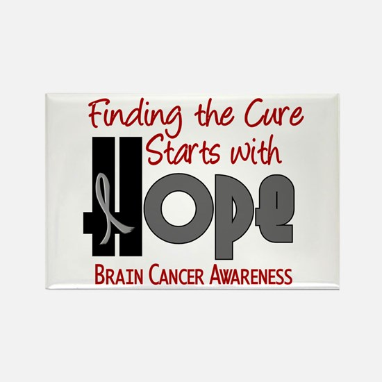 HOPE Brain Cancer 4 Rectangle Magnet