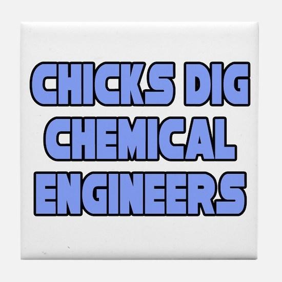 """Chicks Dig Chem. Engineers"" Tile Coaster"