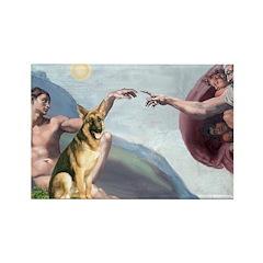 Creation / German Shepherd #2 Rectangle Magnet (10