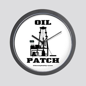 Oil Patch Wall Clock