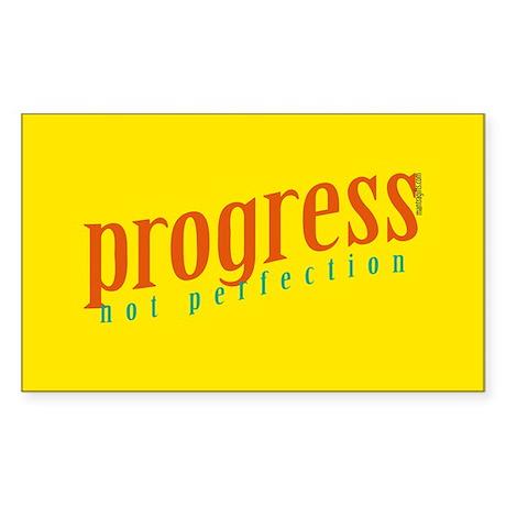 Progress, not perfection Rectangle Sticker