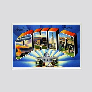 Ohio Greetings Rectangle Magnet