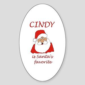 Cindy christmas Oval Sticker