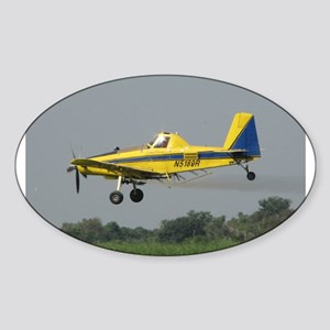 Ag Aviation Oval Sticker