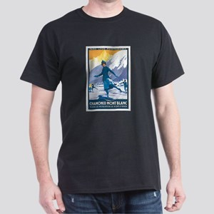 Chamonix France Dark T-Shirt