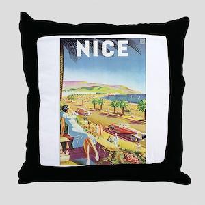 Nice France Throw Pillow