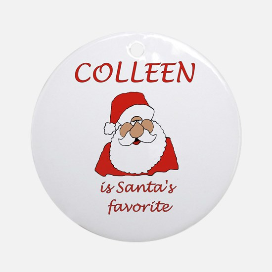 Colleen christmas Ornament (Round)