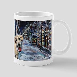 Yellow Labrador Holiday Mug