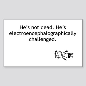 Electroencephalographically c Rectangle Sticker