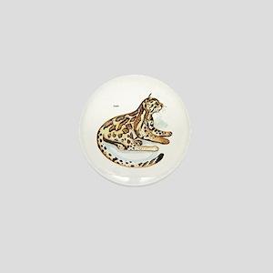 Ocelot Wild Cat Mini Button