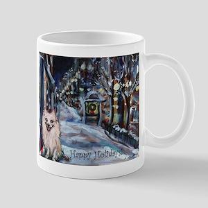 Pomeranian Xmas Holiday Mug