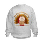 First Thanksgiving (t) Kids Sweatshirt