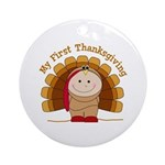 First Thanksgiving (t) Ornament (Round)