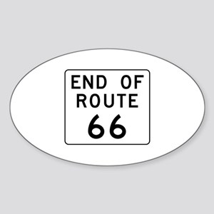 End of Route 66, Illinois Oval Sticker