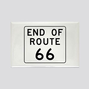 End of Route 66, Illinois Rectangle Magnet
