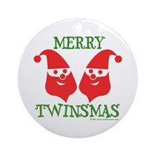 Merry Twinsmas - Ornament (Round)