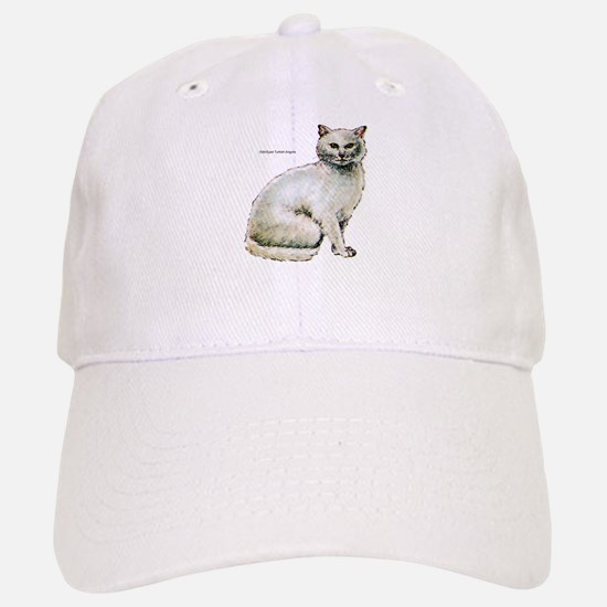 Turkish Angora Cat Baseball Baseball Cap