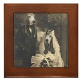 Basset vintage wedding Framed Tiles