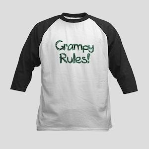 Grampy Rules! Kids Baseball Jersey