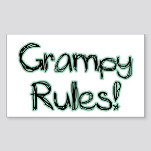 Grampy Rules! Rectangle Sticker
