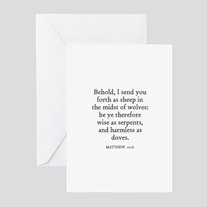 Send forth greeting cards cafepress matthew 1016 greeting cards pk of 10 m4hsunfo