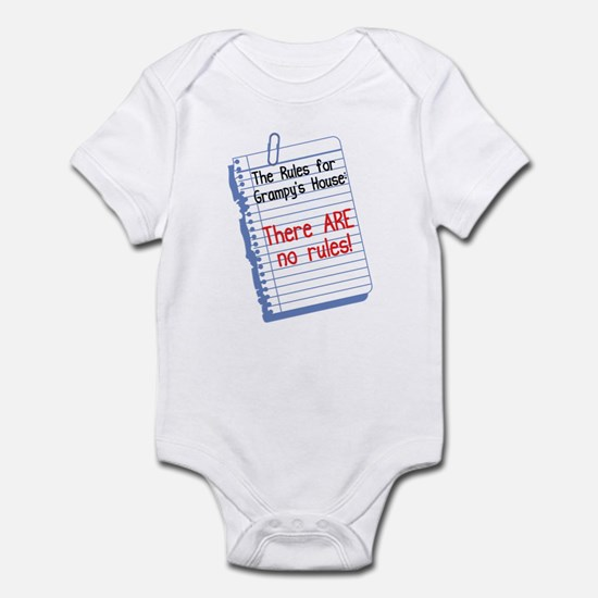No Rules at Grampy's House Infant Bodysuit