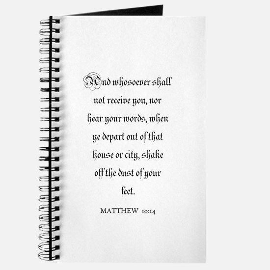 MATTHEW 10:14 Journal