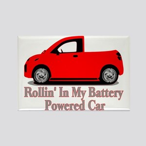 Battery Powered Car Rectangle Magnet
