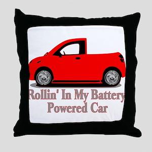 Battery Powered Car Throw Pillow