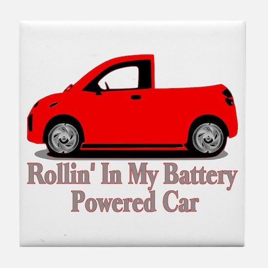 Battery Powered Car Tile Coaster