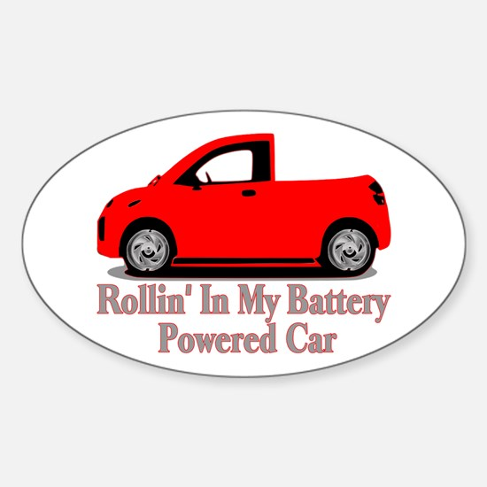 Battery Powered Car Oval Decal