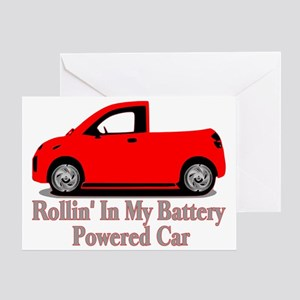 Battery Powered Car Greeting Card