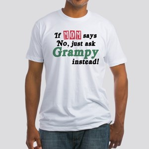 Just Ask Grampy Fitted T-Shirt