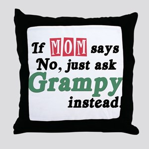 Just Ask Grampy Throw Pillow