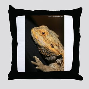 BlondeD the Bearded Dragon Throw Pillow