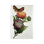 Butterfly Flower Garden Rectangle Magnet