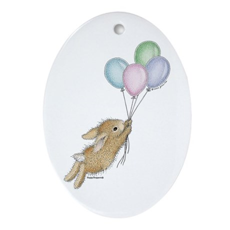HappyHoppers® - Bunny - Ornament (Oval)